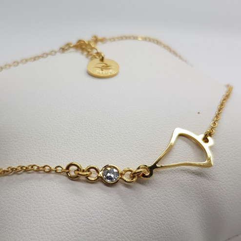 Gold-plated minimalist anklet