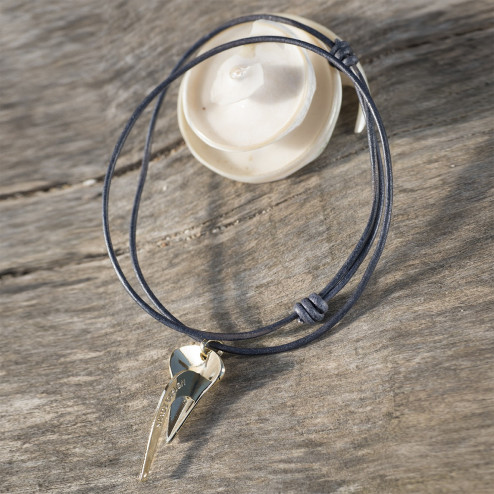 Collier homme Ancre Spade -...