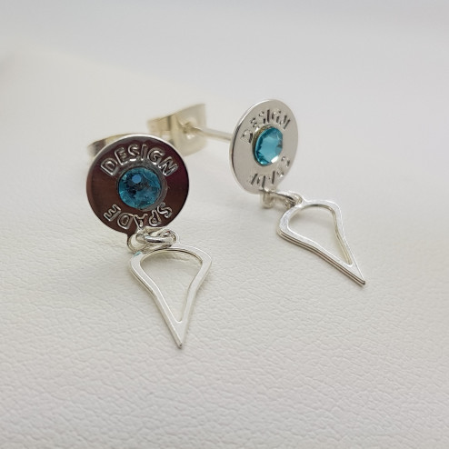 Silver plated earrings with...