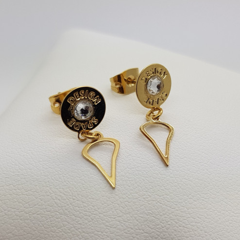 Gold plated earrings with...