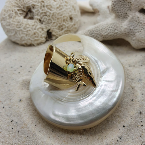 Gold plated signet LM with...